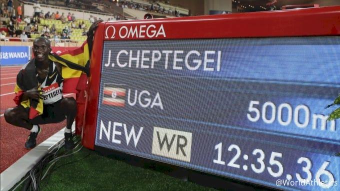 Joshua Cheptegei Breaks 5K World Record, 12:35