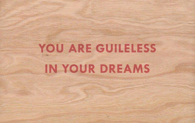 Jenny Holzer - You Are Guileless In Your Dreams for Sale   Artspace