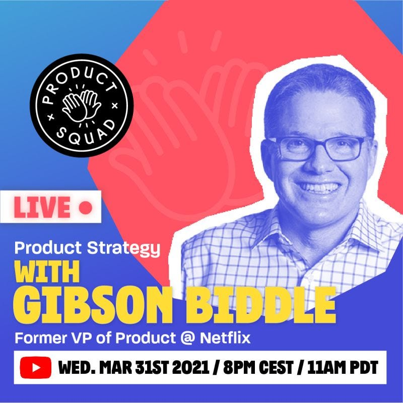 Gibson Biddle - Live on Product Squad