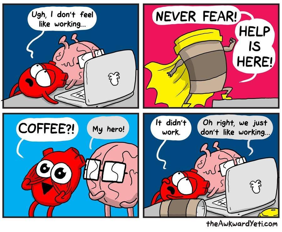 The Awkward Yeti by Nick Seluk for August 05, 2019 | GoComics.com | Awkward  yeti, Heart and brain comic, Life comics