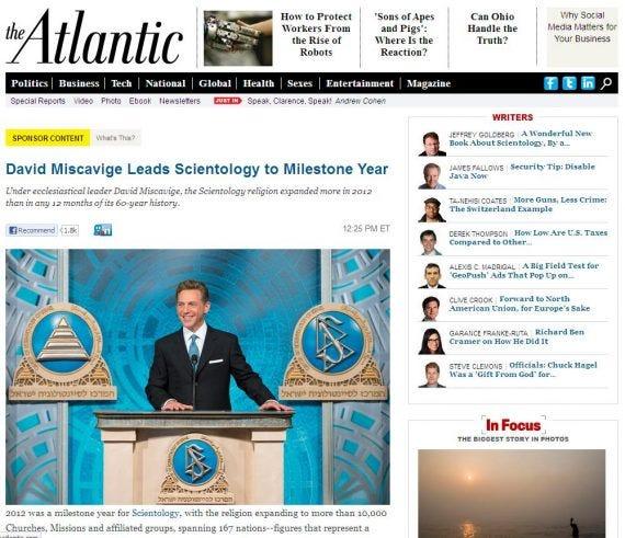 Atlantic Scientology Advertorial