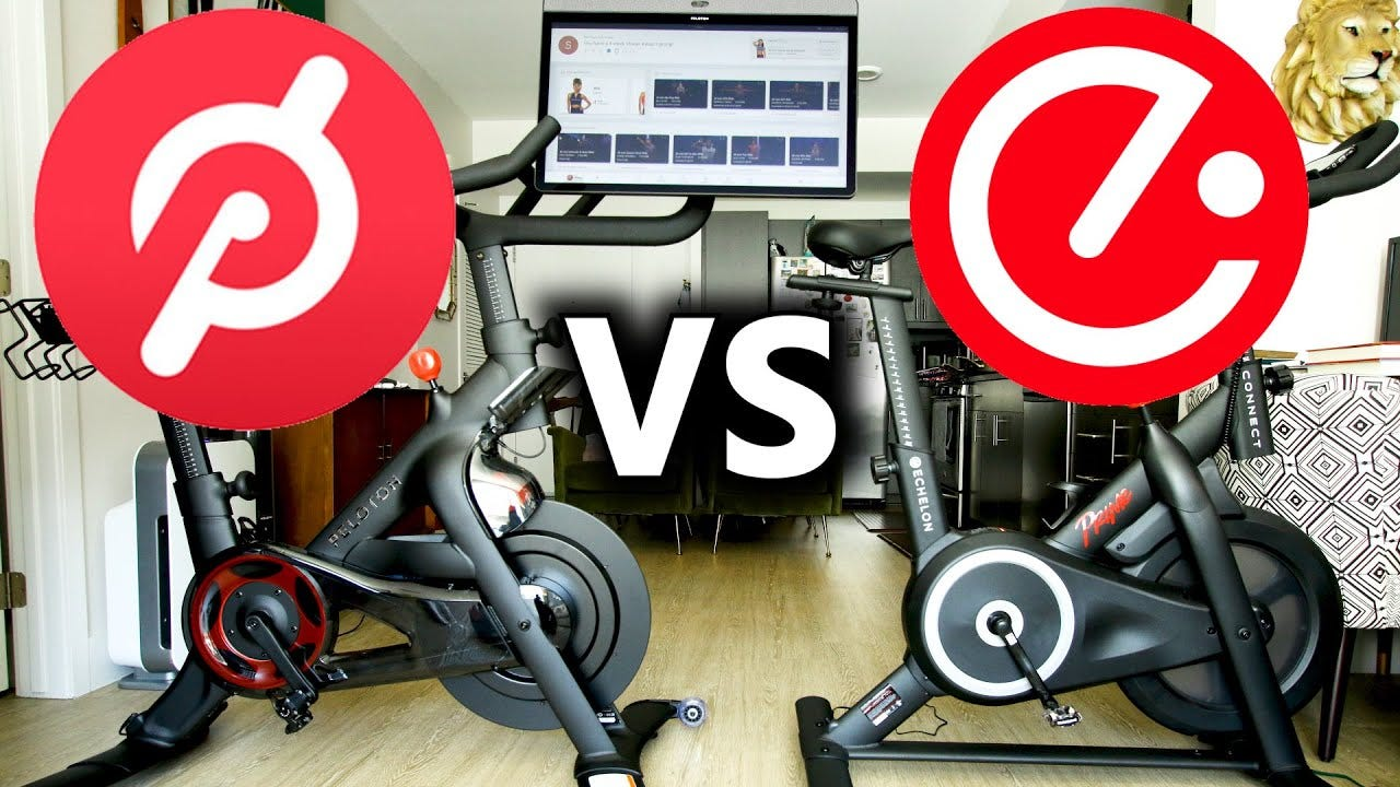 Peloton vs Echelon Bike - In Depth side by side indoor cycling bike  Comparison - YouTube