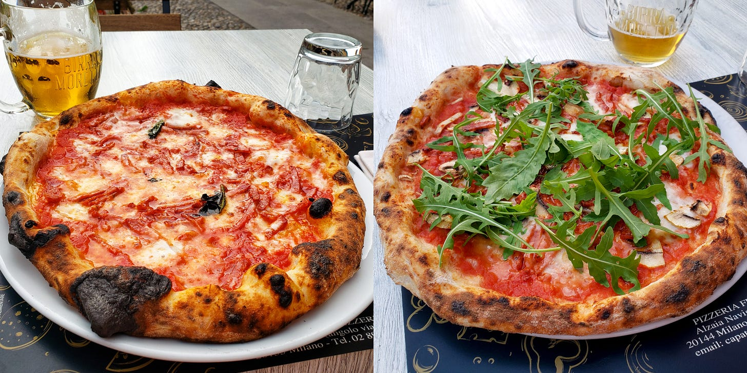 Pizza in Milan Italy