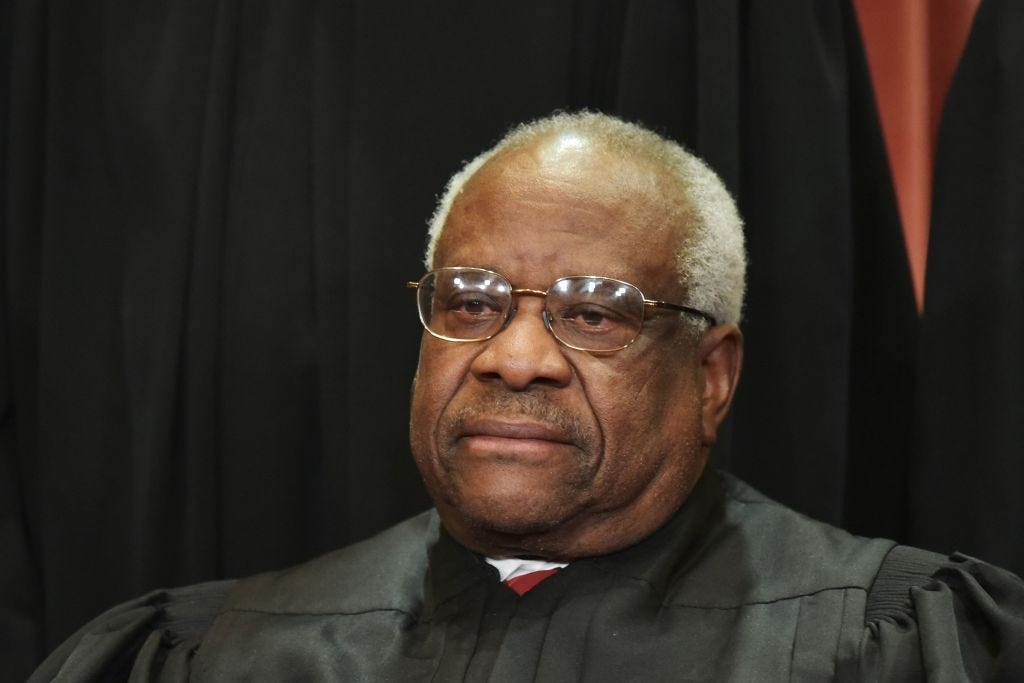 Clarence Thomas in November 18. (Mandel Ngan / Getty Images)