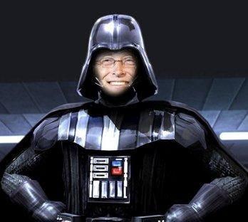 Bill Gates as Darth Vader