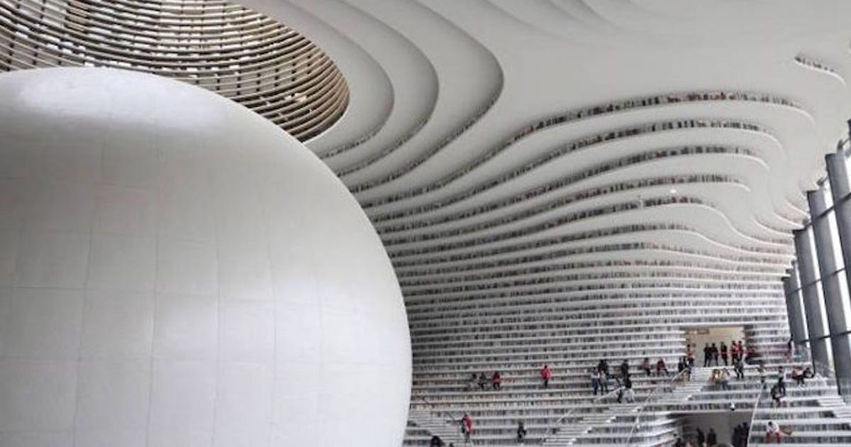 China's Massive New Library Is The Most Futuristic Ever! - Elite Readers