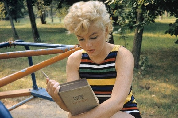 Marilyn Monroe Reads Joyce's Ulysses at the Playground (1955)   Open Culture