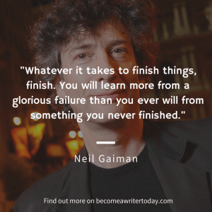 Neil Gaiman offers tips on becoming an author