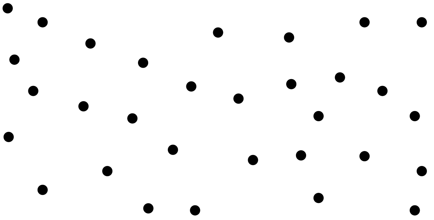 A field of points without labels.