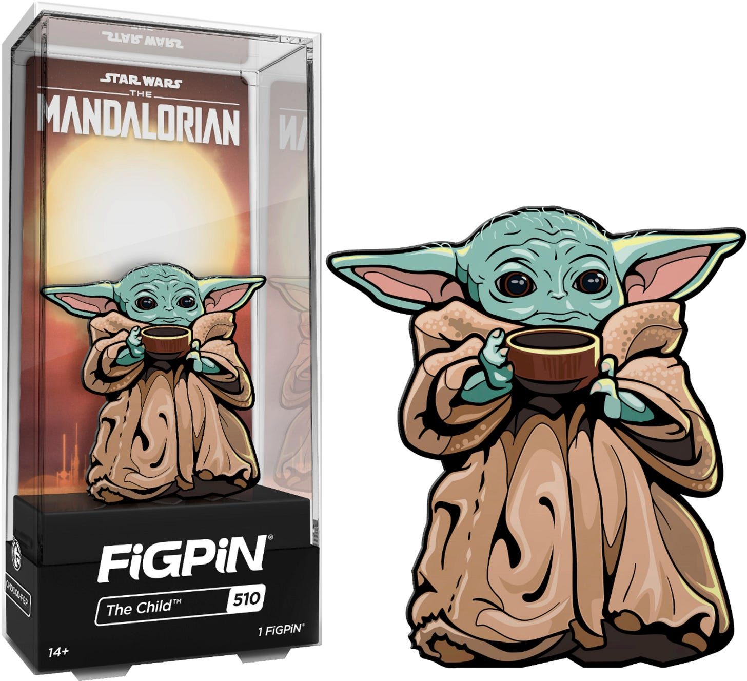 """CMD Collectibles Star Wars: The Mandalorian The Child with Soup 3""""  Collector FigPin CMD1046-FGP - Best Buy"""