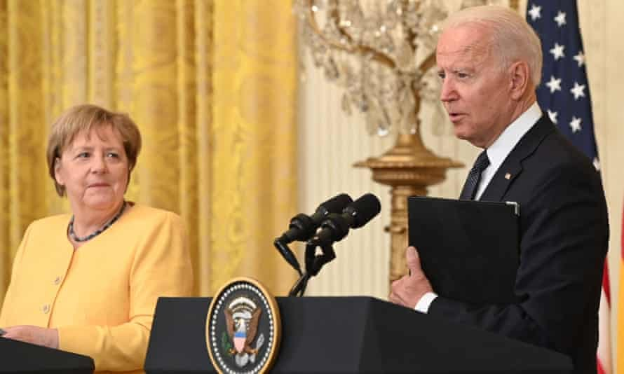 Biden and Merkel vow to defend against Russian aggression in White House  meeting | Joe Biden | The Guardian