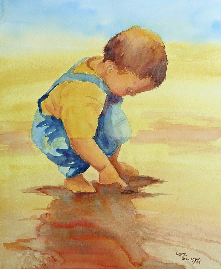 Curiosity Painting by Lora Garcelon