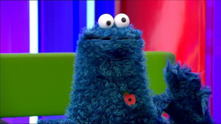 BBC accused of 'trivialising sacrifice of millions' after pinning poppy on COOKIE  MONSTER during One Show appearance