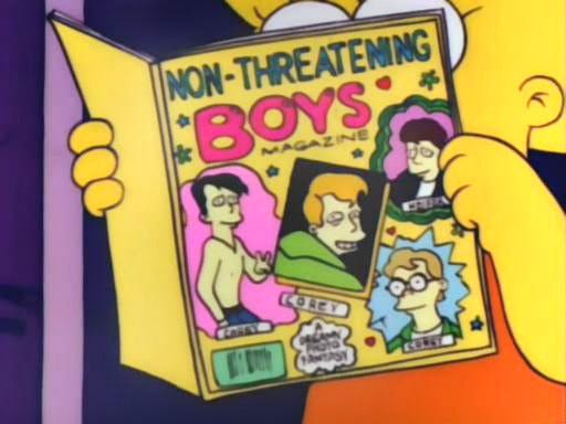 The Lisa Simpson Book Club — Lisa devours a copy of Non-Threatening Boys...