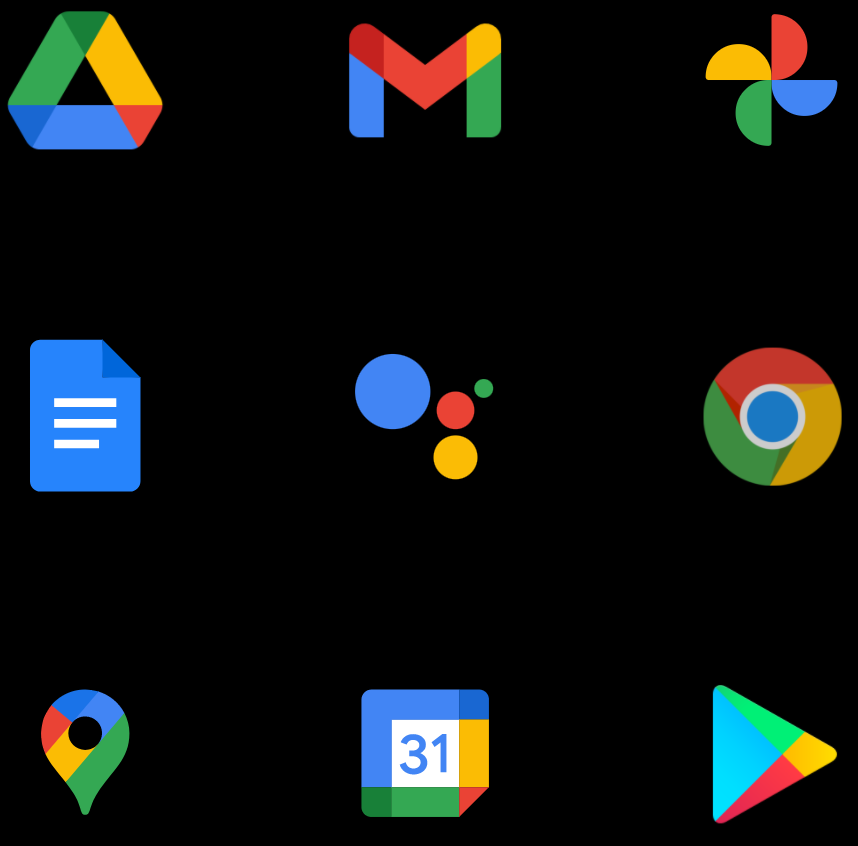 Google's Office Suite Icons