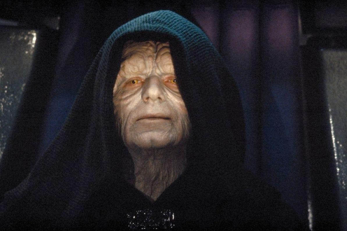 Emporer Palpatine in Return of the Jedi.