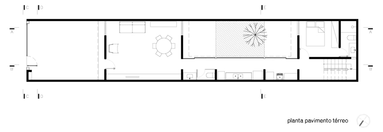 Casa Sra. Dalva Planta Primer Piso