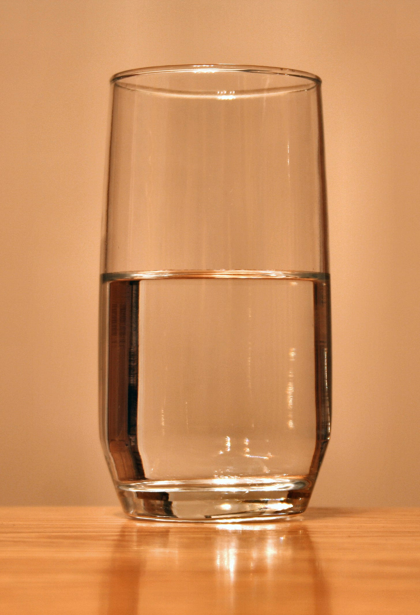 """Everyone asks if the glass is half empty or half full, never """"I didn't ask for water"""""""