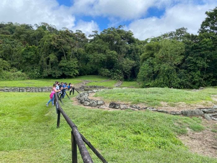 Tourists at Guayabo National Monument in Turrialba, Costa Rica.