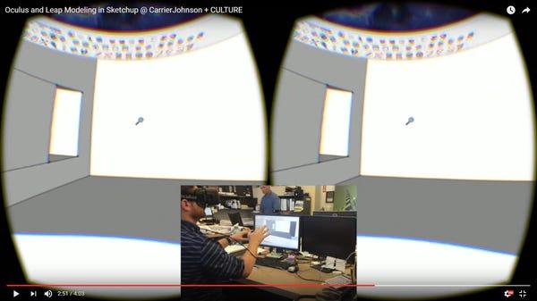 Leap Motion + SketchUp + Gamewave