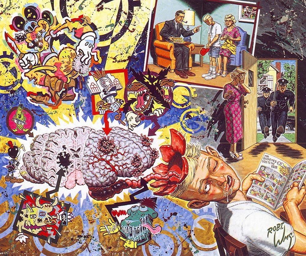 Robert Williams - The Cartoon Disease | Robert williams, Psychedelic  artwork, Lowbrow art