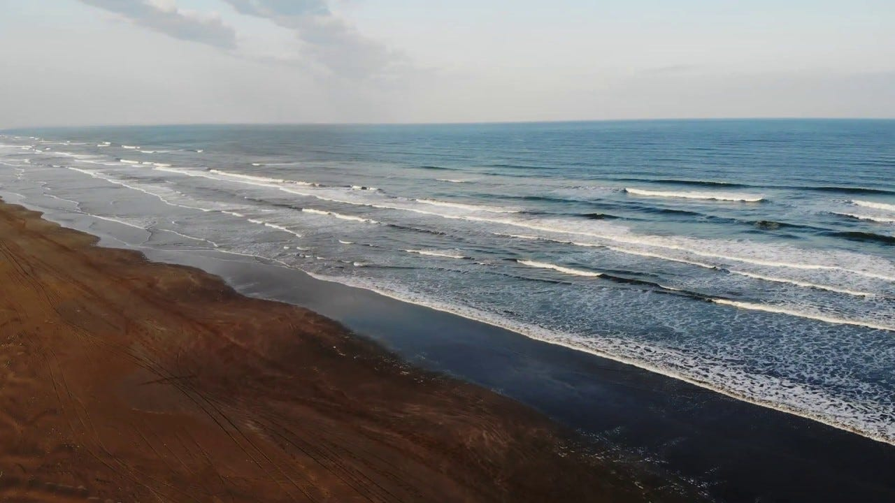 Pacific Ocean -Kujukuri Beach- in Japan by Drone 4K (DJI Mavic Air ...