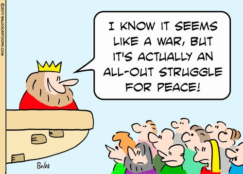 All Out struggle for Peace By rmay   Politics Cartoon ...