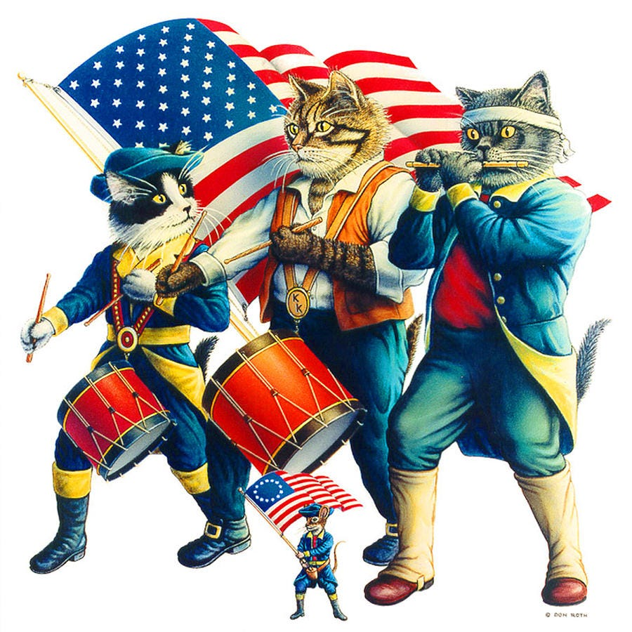 Yankee Doodle Tabby Painting by Don Roth
