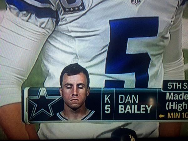 Cowboys K Dan Bailey Seemingly Drugged Out & Asleep in On-Screen Headshot  Photo - Daily Snark