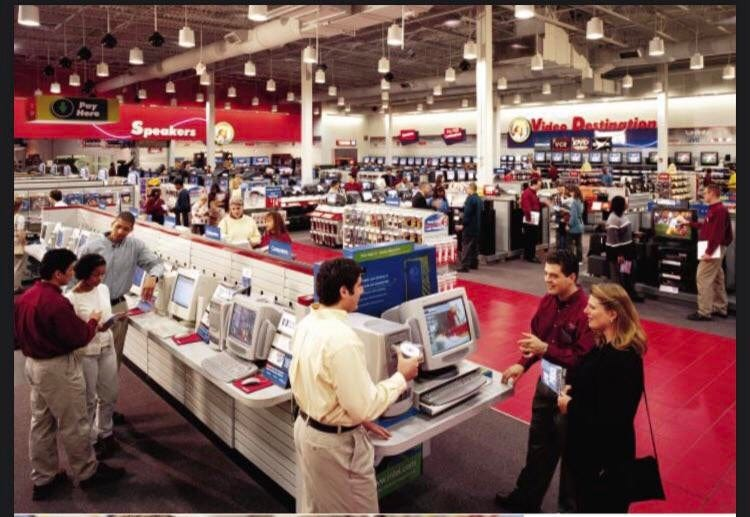 Inside a typical Circuit City store from their 1999 annual report: 90sdesign