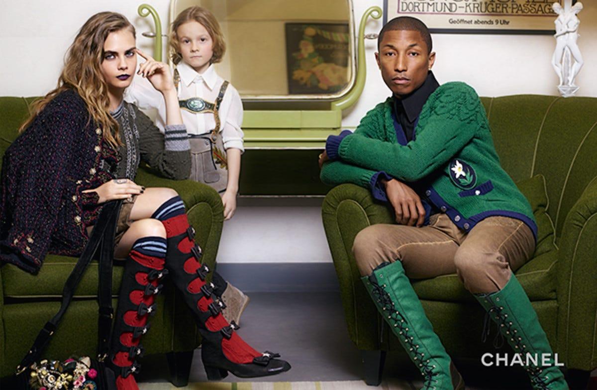 Pharrell Stars Alongside Cara Delevingne in Chanel Pre-Fall Campaign -  Fashionista