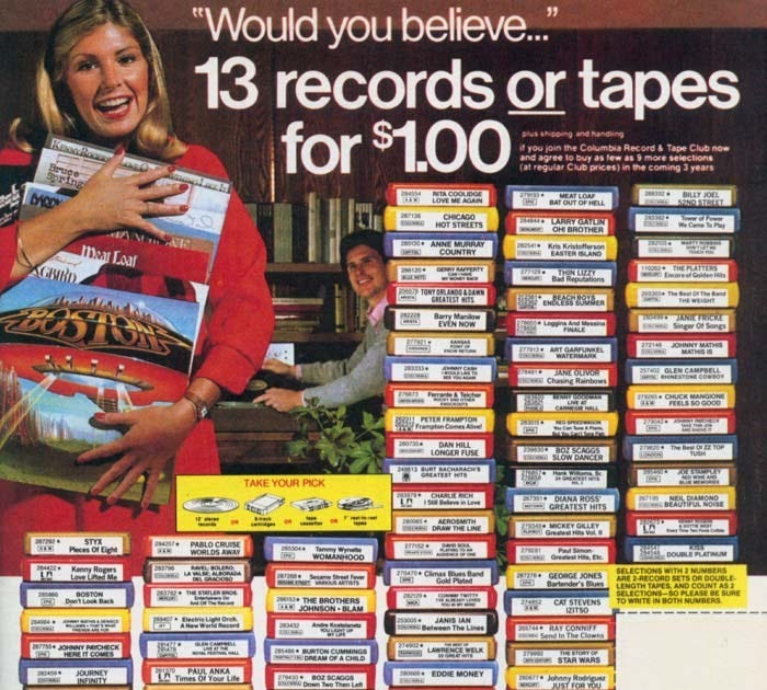 Retrospace: Ads #40: Columbia Record and Tape Club