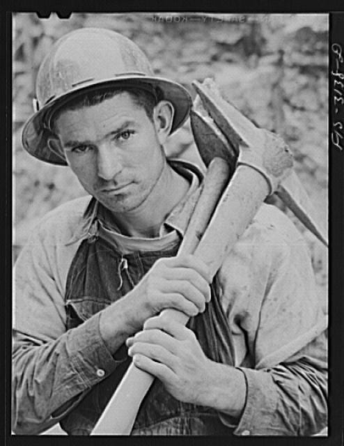 Douglas Dam, Tennessee. Tennessee Valley Authority (TVA). Worker