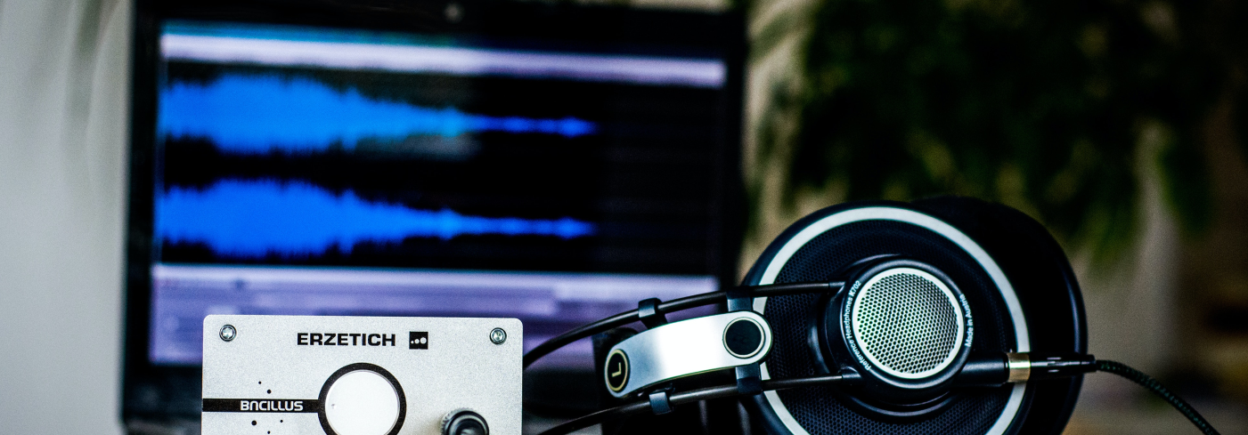 A profesional headset and an audio DAC