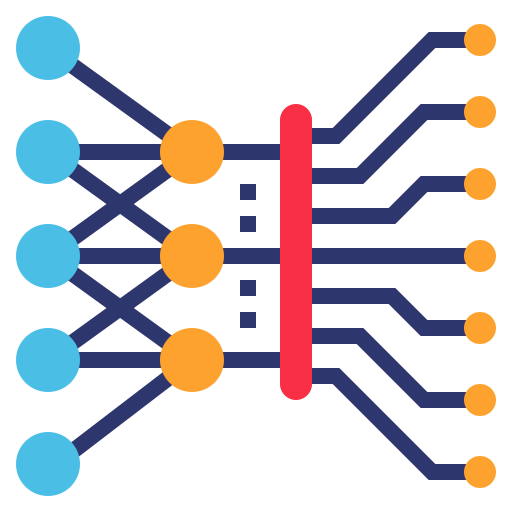 Deep learning - Free electronics icons