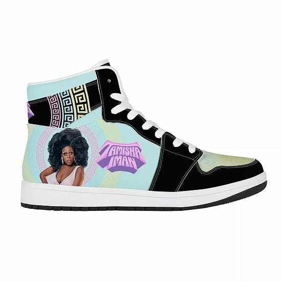 Tamisha Iman Signature Leather High Top Sneakers