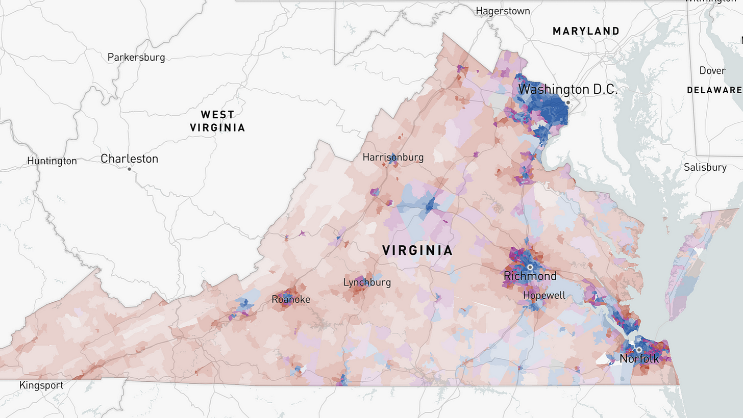 4 Maps Show How Democrats Won the Virginia Governor Race - The New York  Times