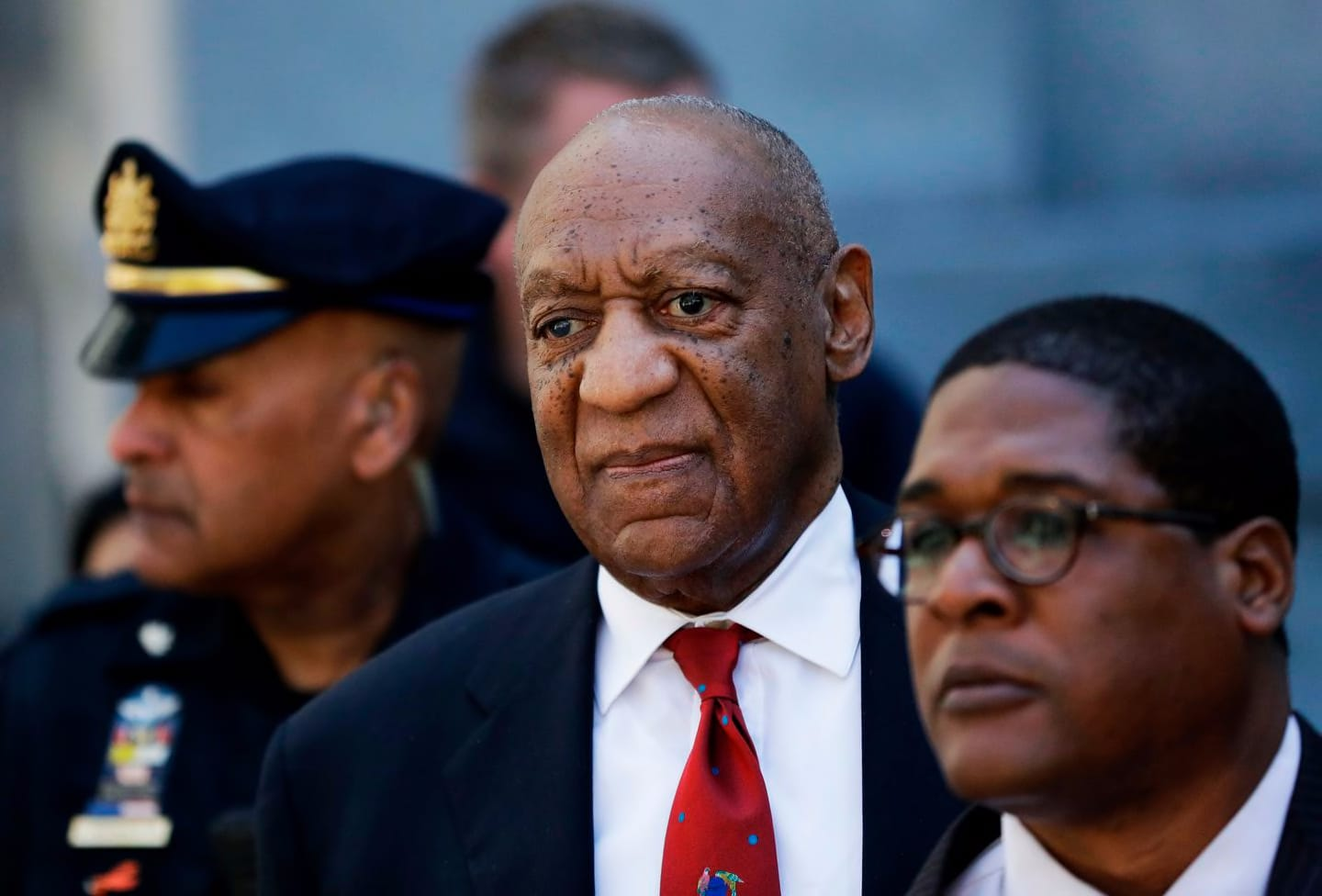 Bill Cosby left court after being convicted in 2018 of drugging and molesting a woman.