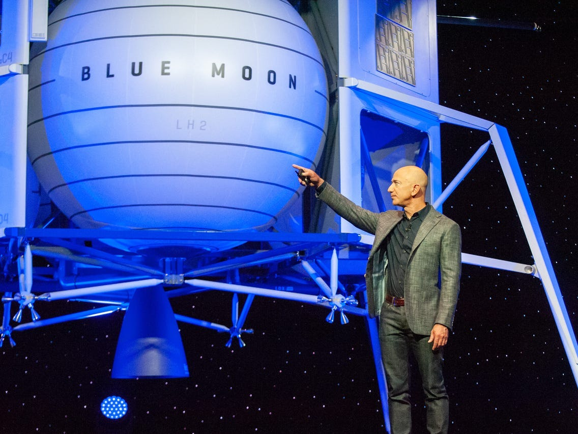 Image result for jeff bezos to the moon