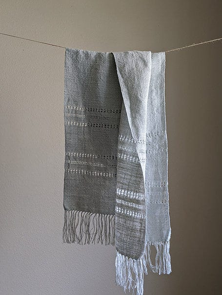 Scarf hanging on a string