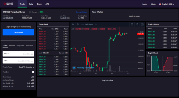 Qume - The World's Fastest Crypto Derivatives Exchange
