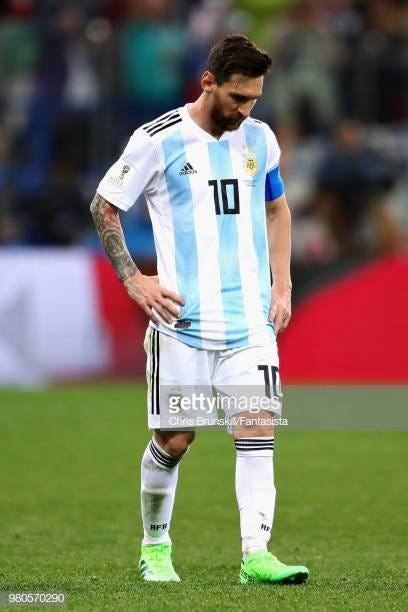 Image result for lionel messi argentina sad