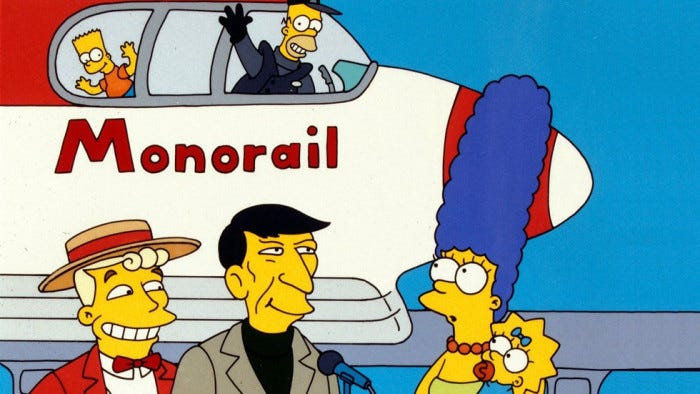 Why 'Marge vs the Monorail' is the best ever episode of 'The Simpsons'