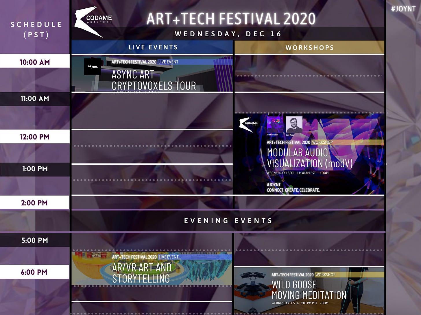 DAY 6: ART+TECH Festival 2020『 JOYNT 』