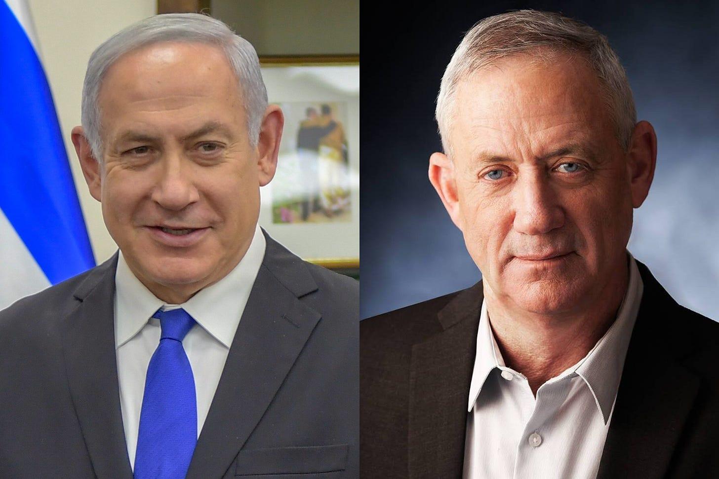 File:Benjamin Netanyahu and Benny Gantz montage.jpg - Wikimedia Commons
