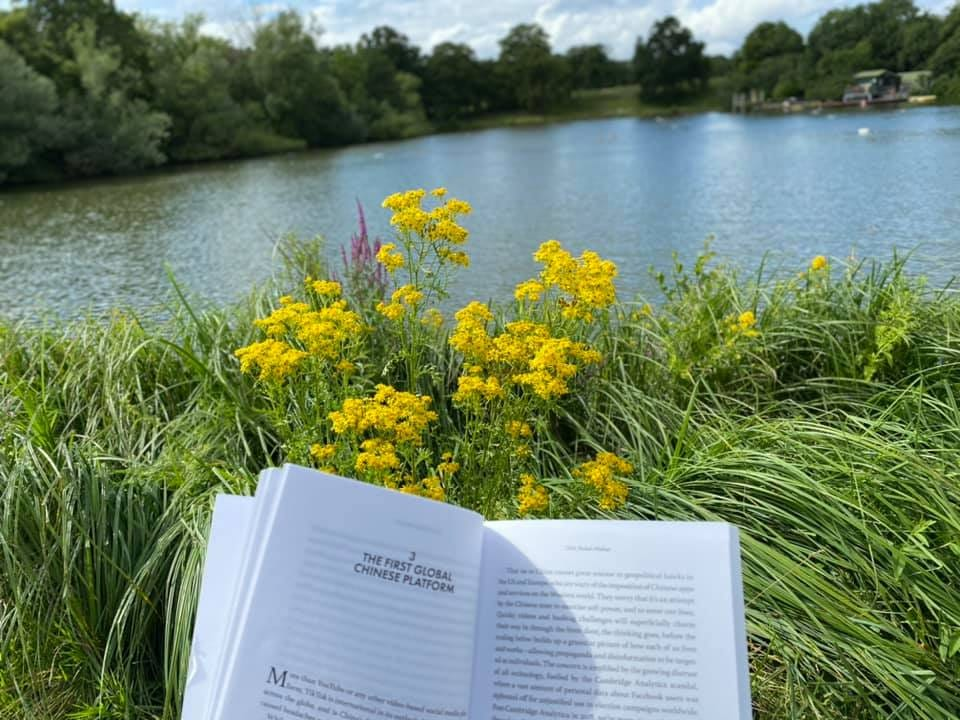 May be an image of book and nature