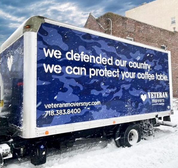 we defended our country, we can protect your coffee table. Veteran movers.
