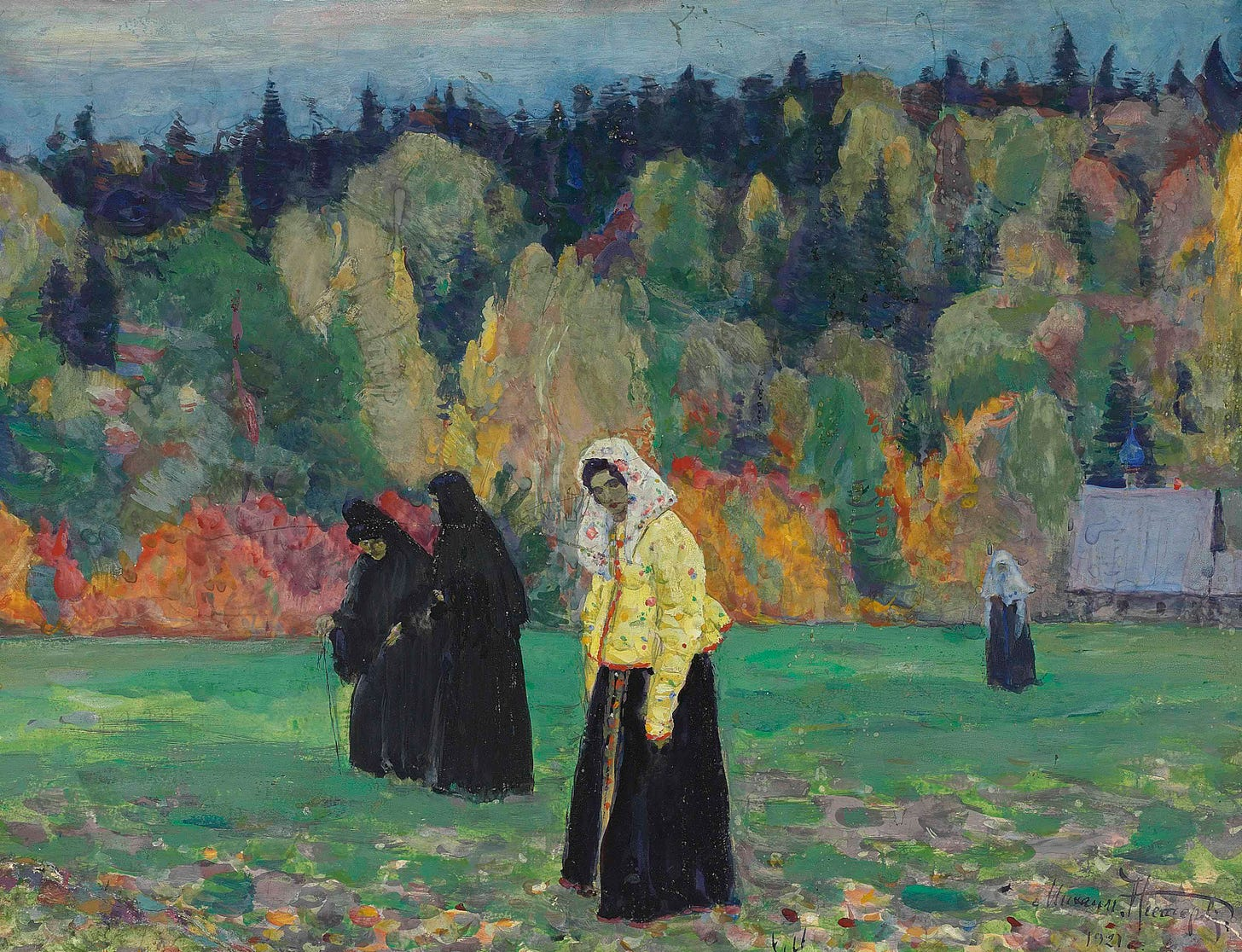 https://upload.wikimedia.org/wikipedia/commons/3/30/A_quiet_life_by_Nesterov_%281921%2C_Christie%27s%29.jpg