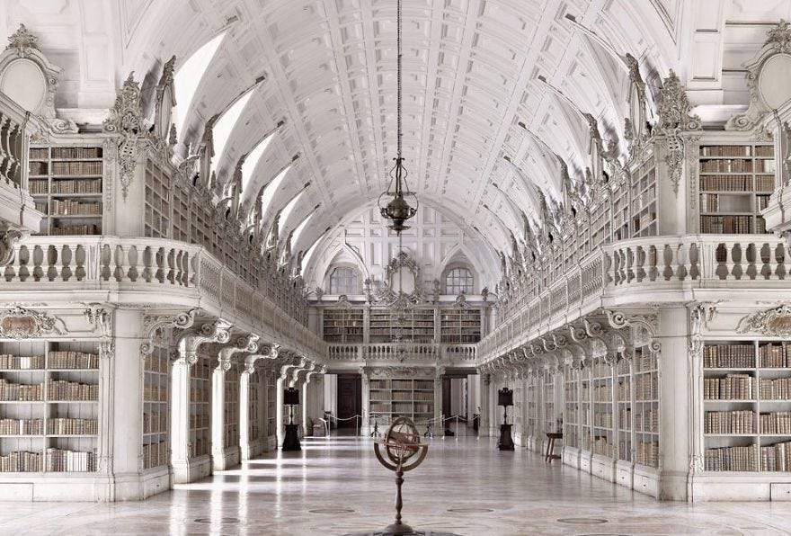 Palace Of Mafra Library, Mafra, Portugal | Beautiful library, Old  libraries, Mafra