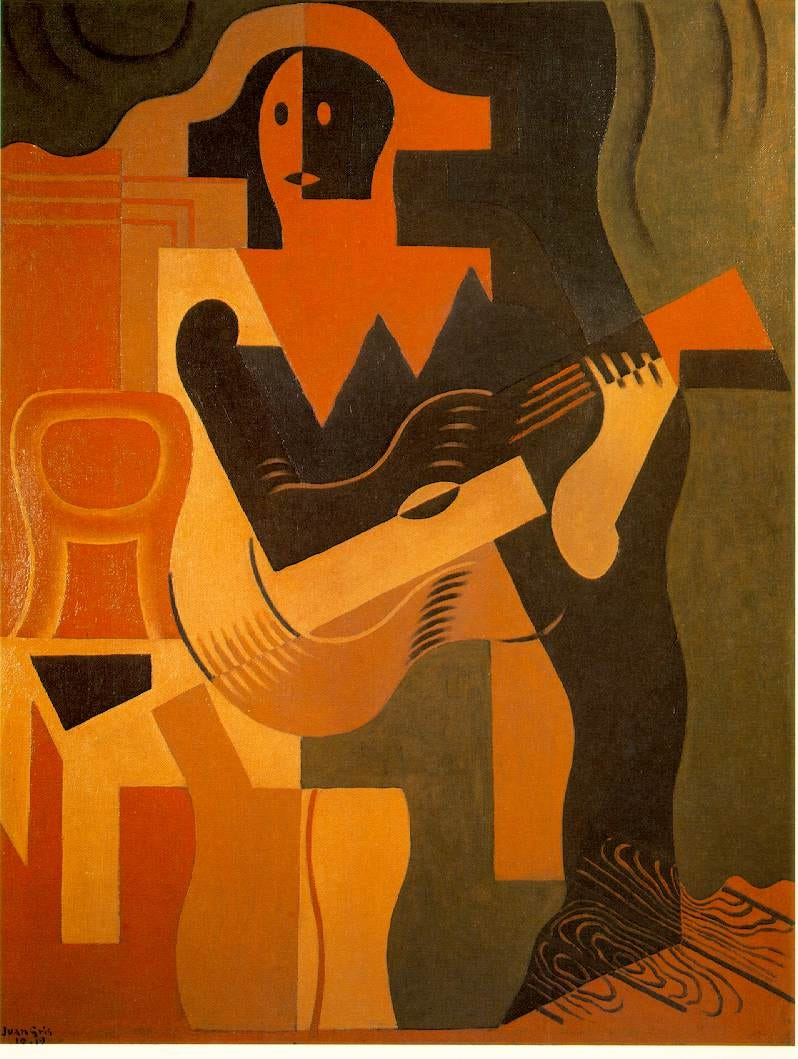 Juan Gris - Harlequin with Guitar (1919) : museum